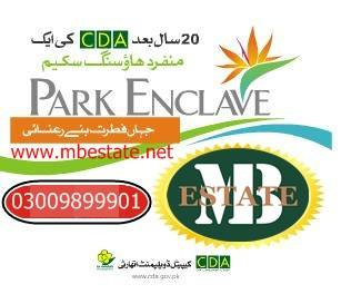 CDA Park Enclave 1 Kanal Plot for Sale